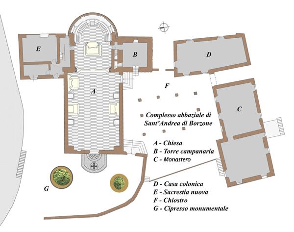 Abbazia - Planimetria - Fondo b